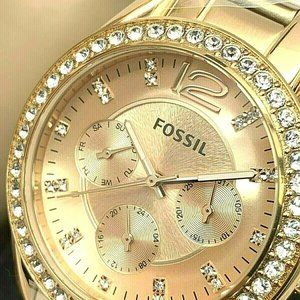 Fossil Women's Watch ES2811 Rose Gold Tone